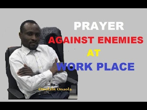 Prayer Against Enemies at Workplace
