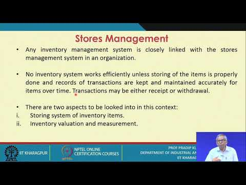 NPTEL :: Management - NOC:Management of Inventory Systems
