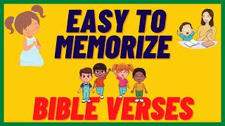 SHORT BIBLE VERSES for CHILDREN / PART 1 / EASY to MEMORIZE  / with DIFFERENT LANGUAGES TRANSLATION