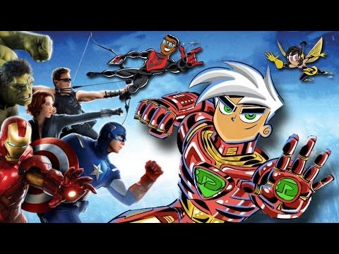 Drawing Danny Phantom characters as THE AVENGERS! | Butch Hartman