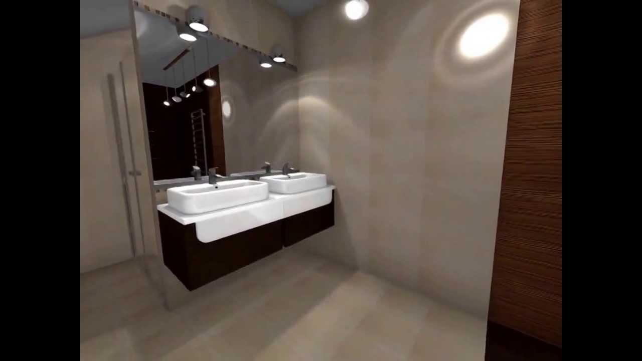 In360 Projekt Aranżacja łazienki Na Poddaszu