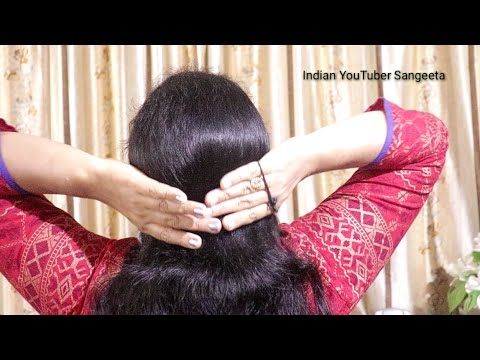 Simple juda hairstyle for women || Everyday Bun Hairstyles || 2018 hairstyles || New hairstyle thumbnail