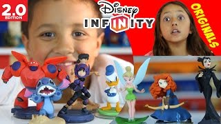 Disney Infinity 2.0 ORIGINALS Surprise Unboxing w/ Lex, Mike, Chase: Baymax, Hiro, Maleficent + More