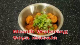 Yummy & Tasty Spicy Soya Chunks Recipe Gravy   How to cook easy method  soya masala fry in Tamil  