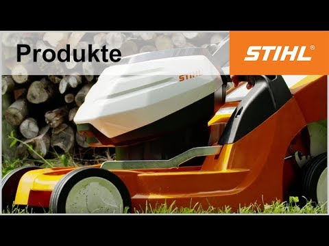 stihl akku rasenm her rma 443 c youtube. Black Bedroom Furniture Sets. Home Design Ideas