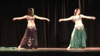 Egyptian Style Dance  - Desert Dreams Bellydance - Laura & Lydia (Stage Performance)