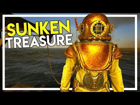 Diving Suit Into Sunken Ship Treasure! (Ark Atlas Gameplay #16)