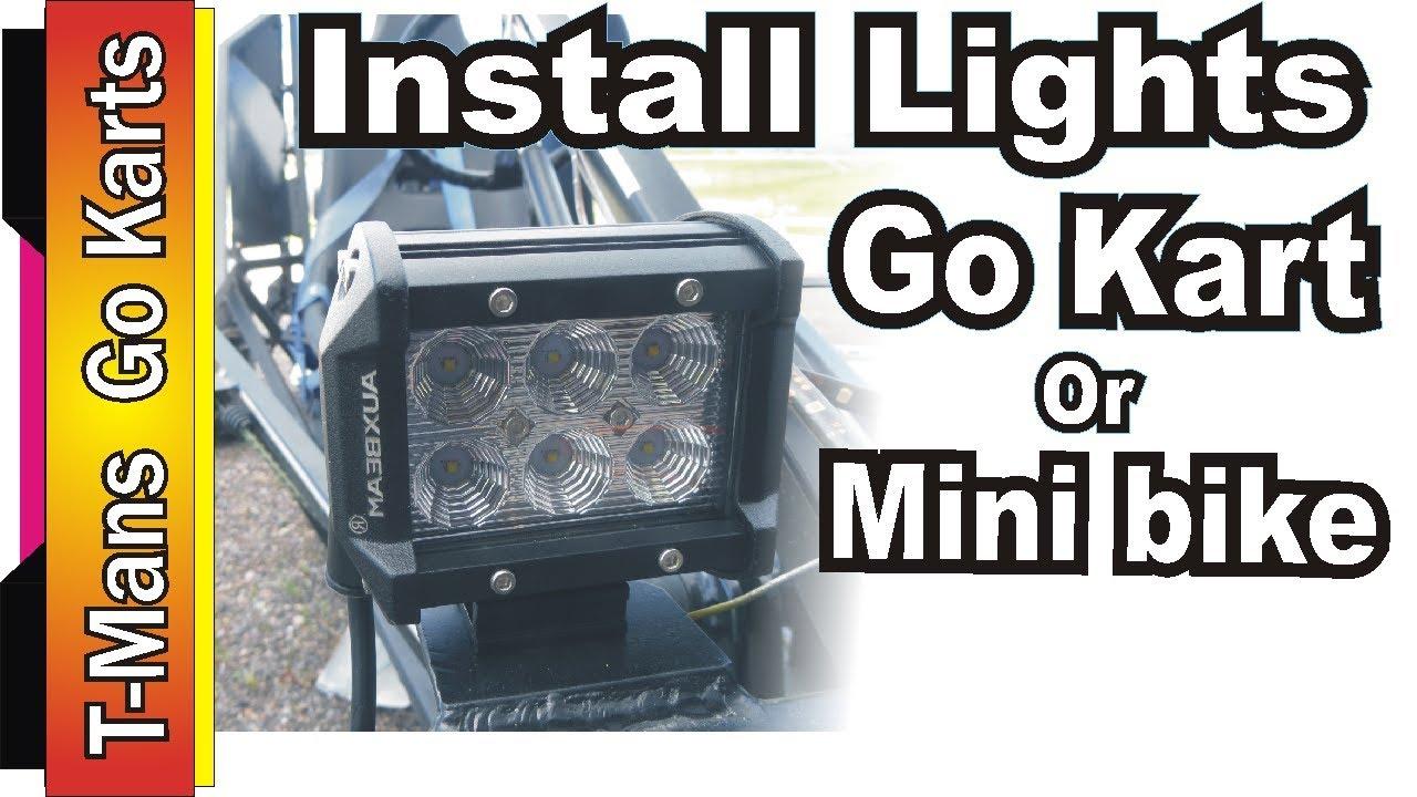 how to install lights on a go kart or mini bike [ 1280 x 720 Pixel ]
