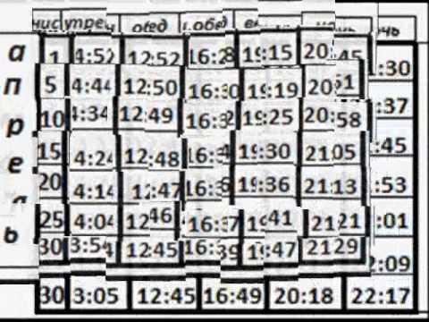 Расписание намаза