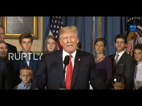 LIVE: Donald Trump comments on the US' ongoing healthcare debate