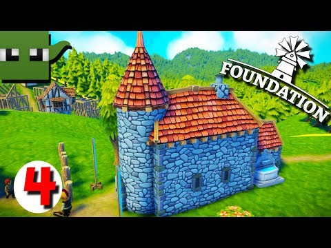 Foundation - Medieval City Building Game #4 Lord House Rebuild!