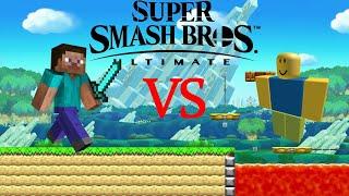 Super Smash Bros Ultimate Minecraft vs. Roblox