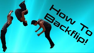 how to do a backflip overcome fear of backflip