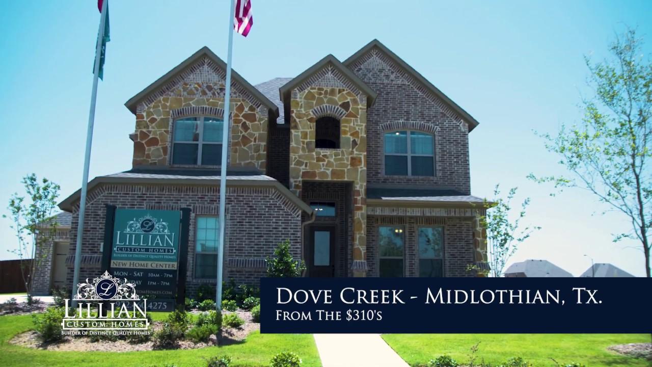 Lillian Custom Homes In Dove Creek Midlothian Tx New For