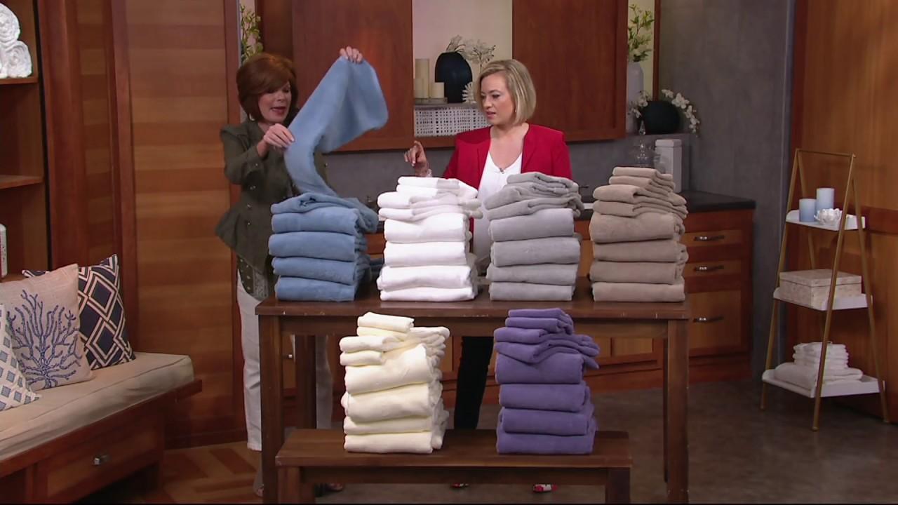 Northern Nights 8 Piece Luxury 100 Cotton Generous Size Bath Towel Set On Qvc Youtube
