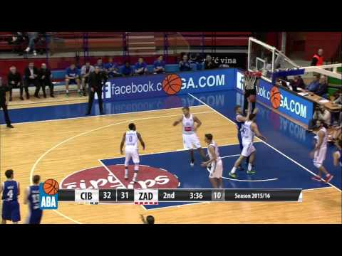 Highlights: Cibona - Zadar [ABA – Round 14] [13/12/2015]