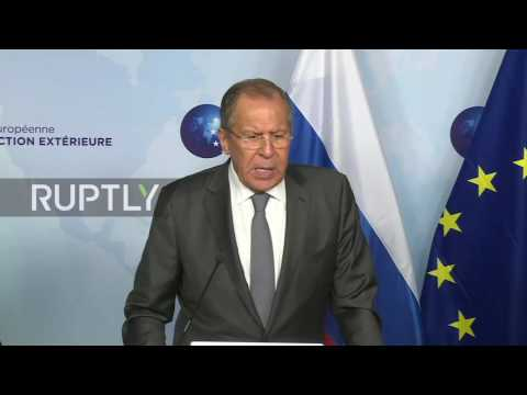 Belgium: Lavrov hopes EU-Russia relations will gradually normalise
