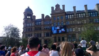 Andy Murray Wimbledon 2013 champion | Footage from Manchester Exchange Square
