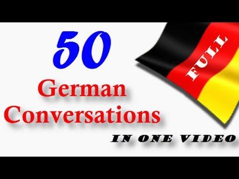 50 German Conversations│in One Video
