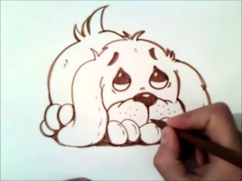 Comment dessiner un chien mignon - Comment dessiner un chat trop mignon ...