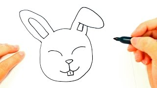 How to draw a Rabbit | Rabbit Head Easy Draw Tutorial