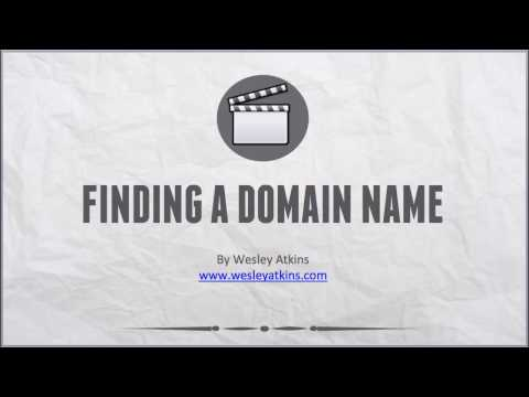 [ Create Your Own Website ] 6. Finding a domain name