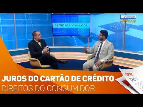 Direitos do Consumidor: Juros do cartão de crédito - TV SOROCABA/SBT