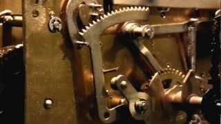 Grandfather Clock Mechanism, Closeup On Main Hour Chime Mechanism