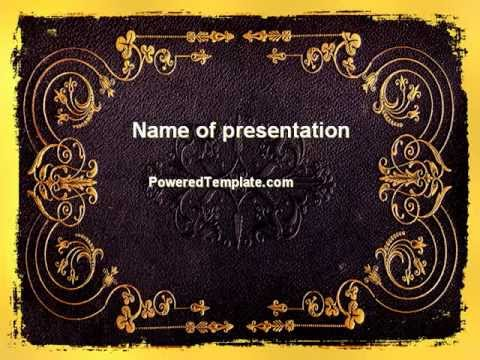 Book Cover PowerPoint Template by PoweredTemplate - YouTube