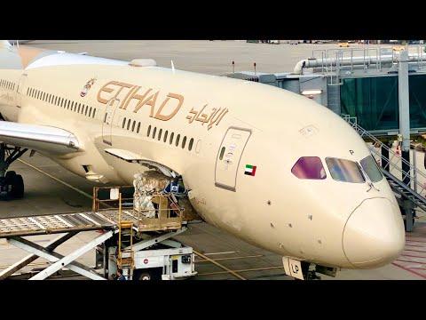 ETIHAD 787-9 BUSINESS Class: EY833 Hong Kong To Abu Dhabi
