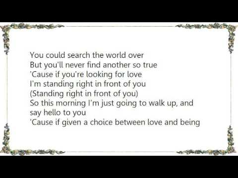 Keith Urban - Standing Right in Front of You Lyrics