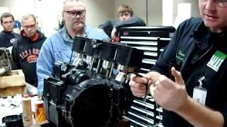 how to install the cylinders on an inline 4 multiple cylinder motorcycle engine
