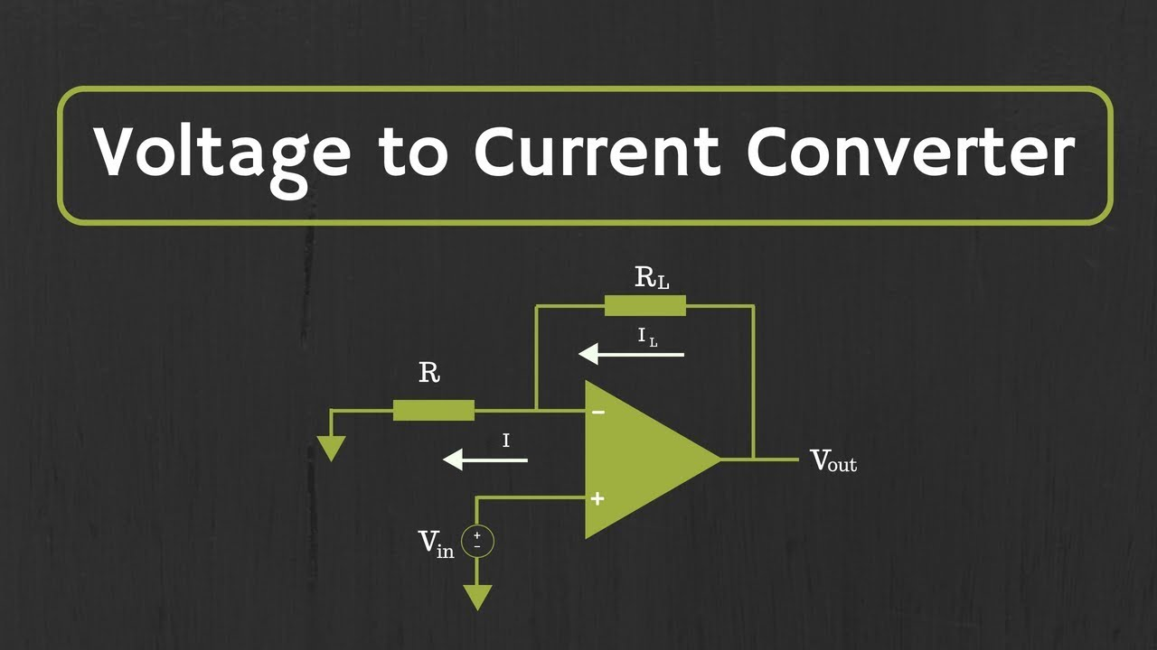 Op Amp Voltage To Current Converter Youtube Simple Currenttovoltage Circuit Diagram Electronic All About Electronics