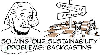 Sustainability plan: How might Einstein solve our problems? (backcasting)