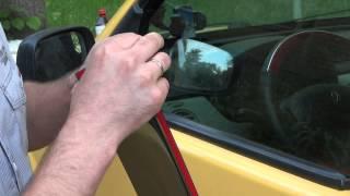 видео Для чего нужны дефлекторы окон автомобиля и как установить их, чем приклеить