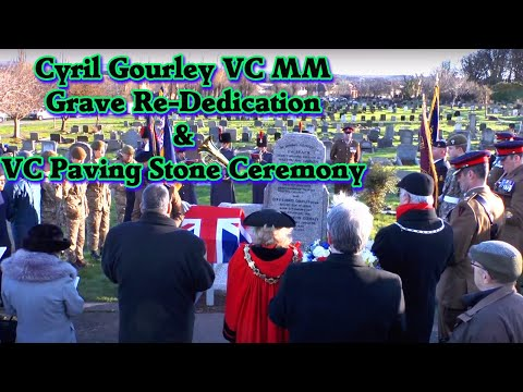 Cyril Gourley VC Grave Re-Dedication and VC Paving Stone ceremony