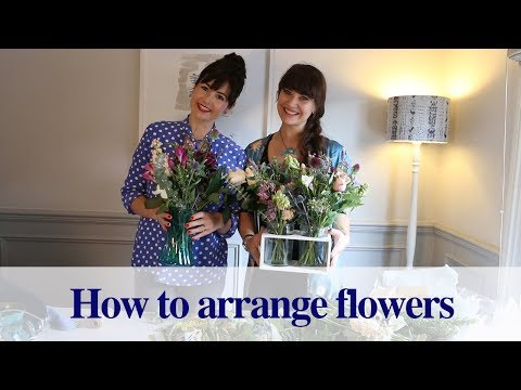 How to Arrange Flowers with the Hand-tie Technique