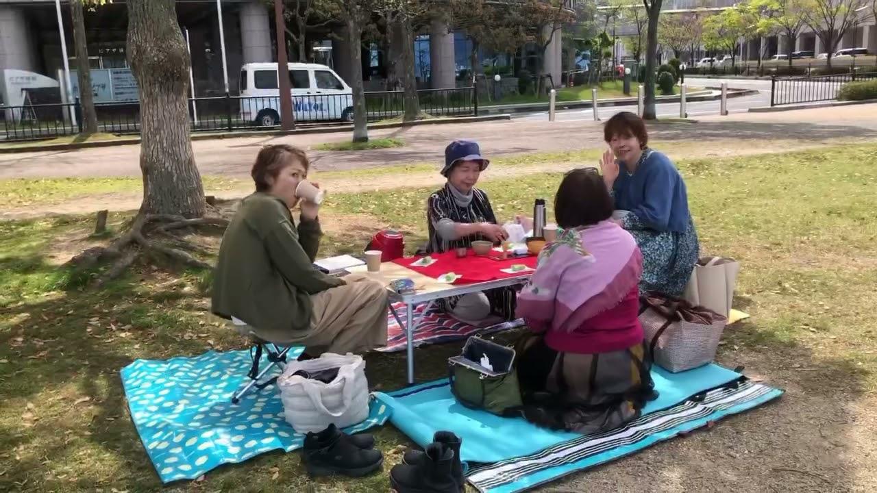 今日も幸せ時間〜琵琶湖畔で、きよみんの筍弁当と野点