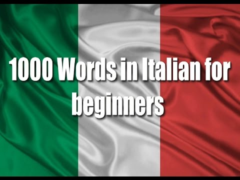 Italian courses: 1000 Words in Italian for beginners (Greetings and expressions) Part 1