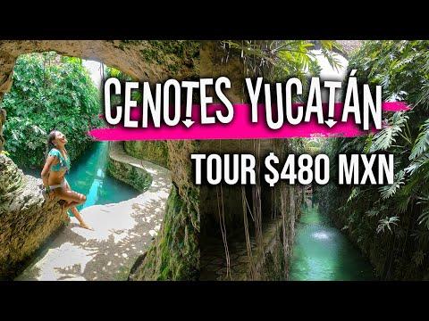 CENOTES YUCATAN + HACIENDA por MENOS DE $480 MXN || Hacienda Cenotes Mucuyché || TIPS DE AHORRO