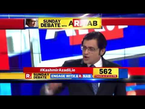 The Sunday Debate with Arnab on Kashmir Azadi Lie