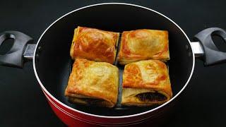 Puffs recipe Malayalam without oven Puffs sheet recipe എളപപതതൽ പഫസ ഷററ Egg Puffs