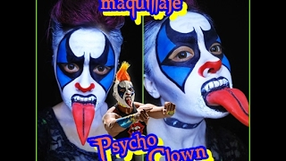 Psycho Clown Maquillaje | And Flocaz 2017