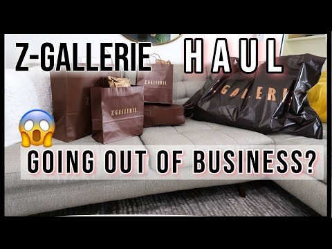 Is Z-Gallerie Going Out of Business? | Glam Decor  Haul