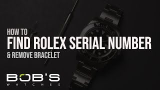 Between rolex lugs no serial number Structure Guide