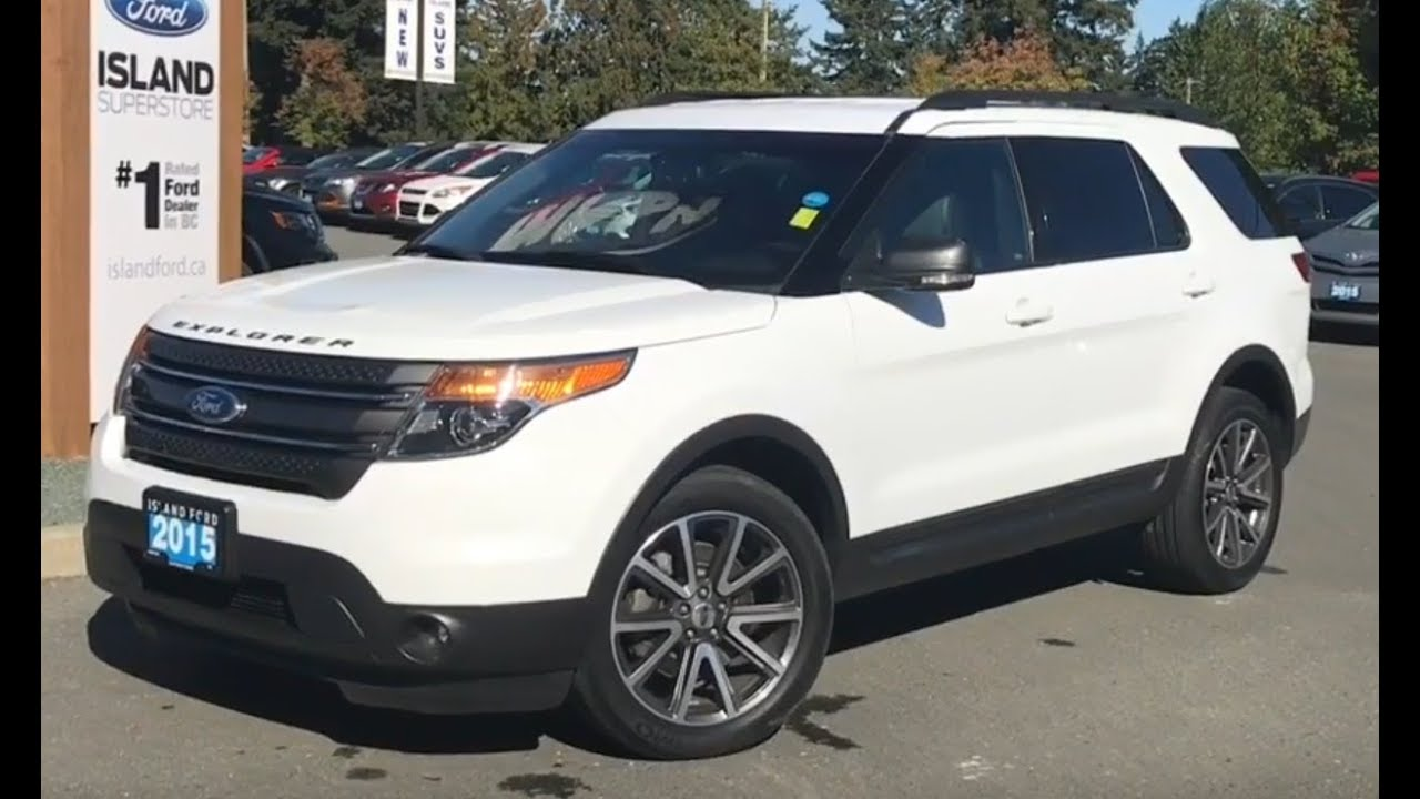 2015 Ford Explorer Xlt W Nav Leather Awd Review Island Ford Youtube
