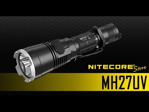 Confronto Lumen Watt Led.Nitecore Mh27uv 1000 Lumens Rechargeable Flashlight W Ultraviolet Led