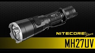 Nitecore MH27UV 1000 Lumens Rechargeable Flashlight w/ Ultraviolet LED