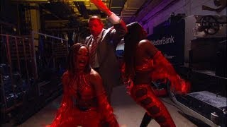 Mr. McMahon gets down with Cameron & Naomi: Raw, June 11, 2012