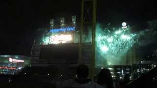 Cleveland Indians Rock and Roll Firework Show 6/15/13 part 1